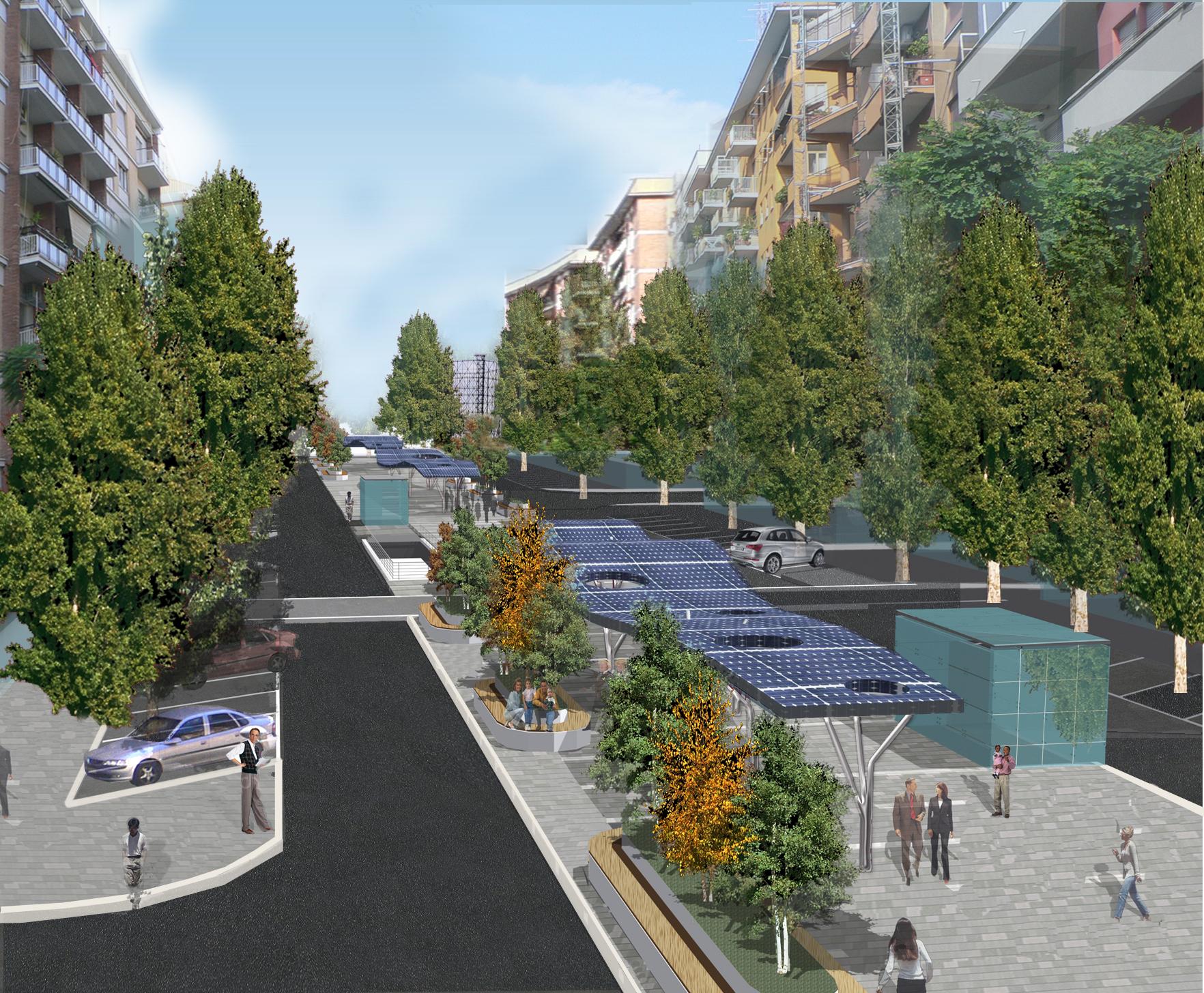 Urbanfile roma via fermi e il parcheggio interrato - Parcheggio interrato ...