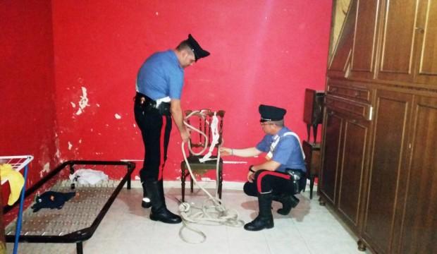 Il sopralluogo dei Carabinieri____