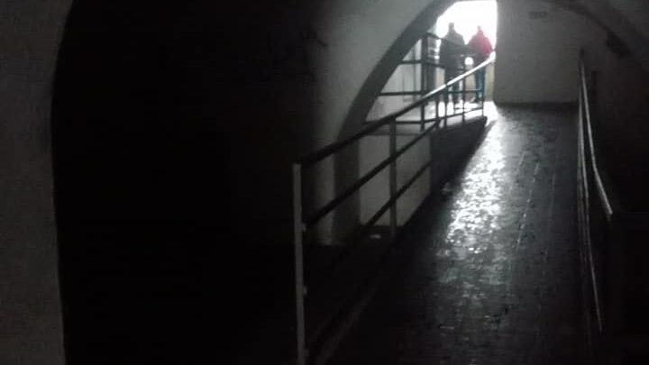 sottopasso al buio