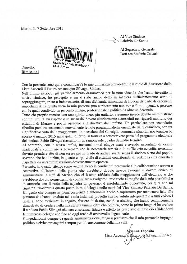 Dimissioni-Arianna-Protocollate