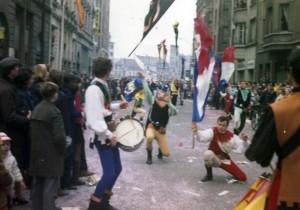 1969 - SBANDIERATORI DEI RIONI DI CORI AL CARNAVAL DE MULHOUSE
