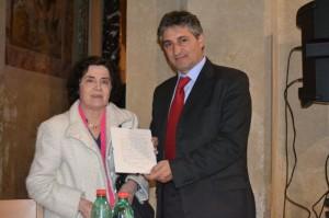 20° ACCROCCA - MARIA ARMELLINO DONA AL COMUNE DI CORI LA LETTERA ORIGINALE DI ACCROCCA