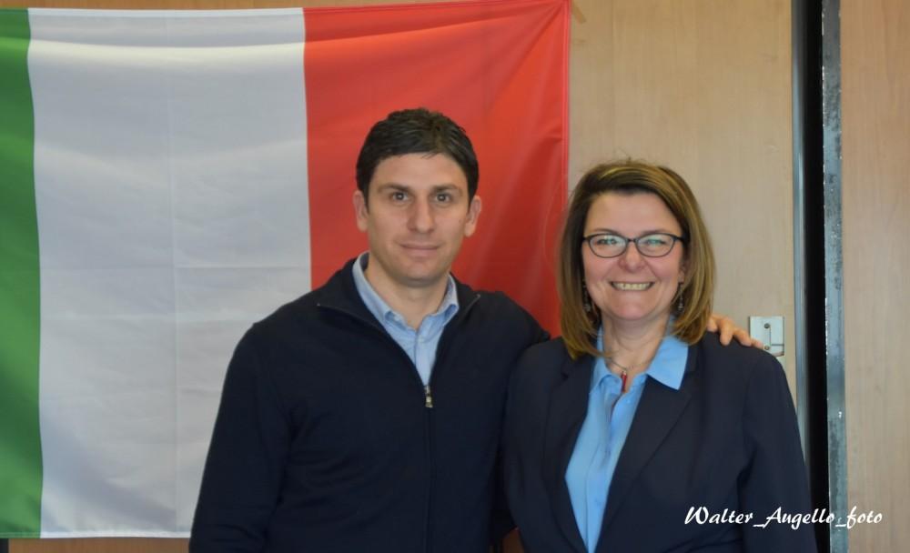 Alessandro Grando e Francesca Lazzeri
