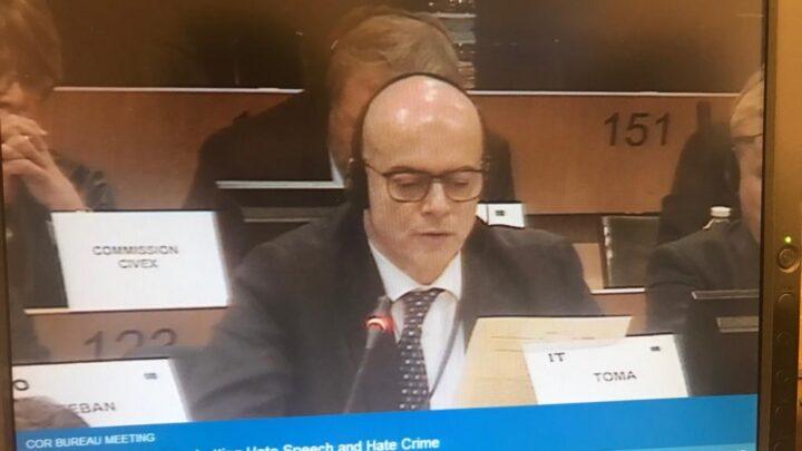 Bruxelles, intervento Toma Bureau Comitato delle Regioni